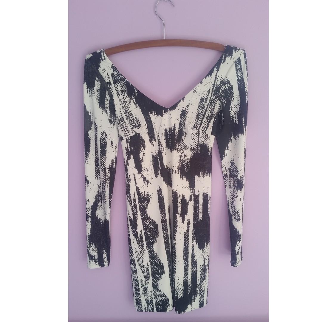 Black &white dress size 8