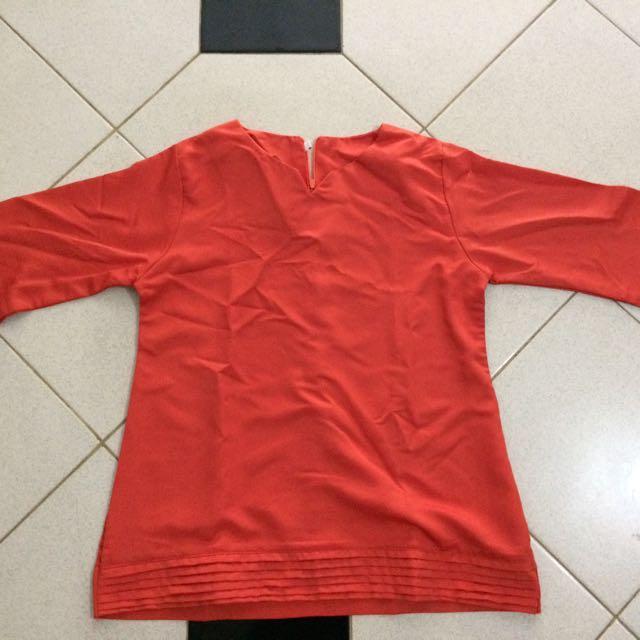 Blouse Wanita warna orange