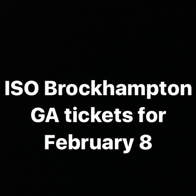 Brockhampton Tickets For February 8 At Rebel