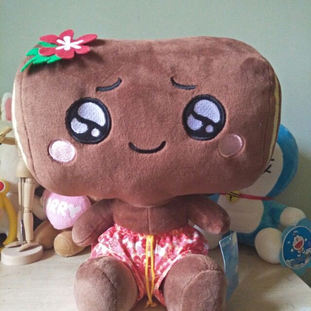 Brown Marshmallow Plush Toy.