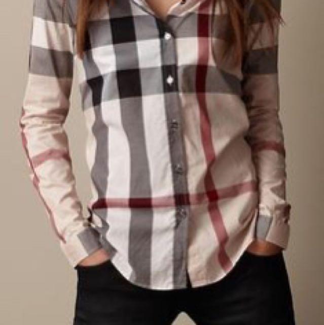 Burberry classic check shirt XS