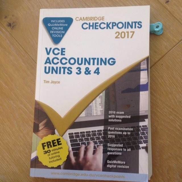 Cambridge checkpoints accounting 3/4 2017