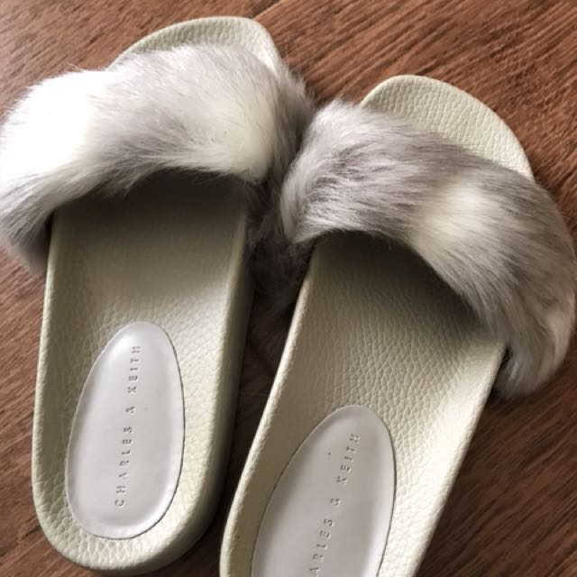 Charles and keith furry slides