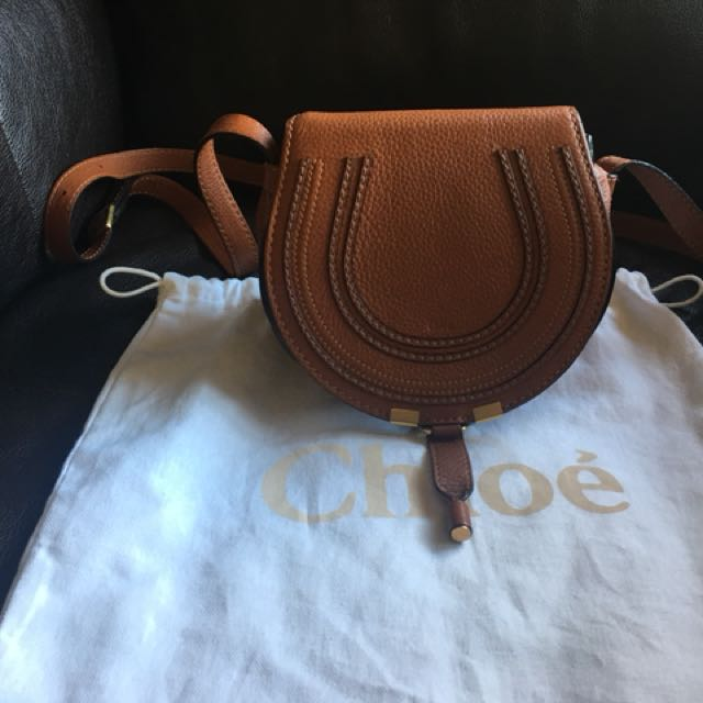 Chloe Marcie small tan bag