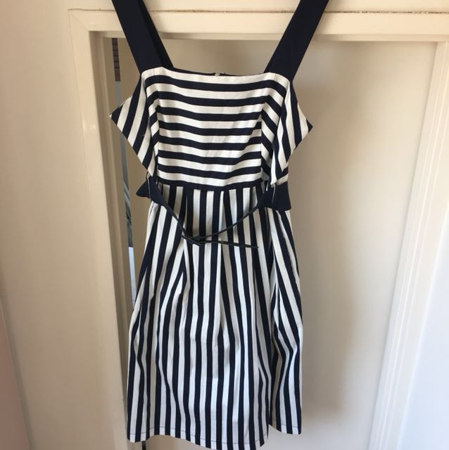 City Chic Plus Size Small (16/18) striped sundress