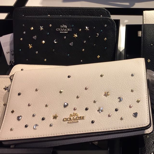 2410667b94a8 COACH Foldover Crossbody Clutch With Stardust Studs