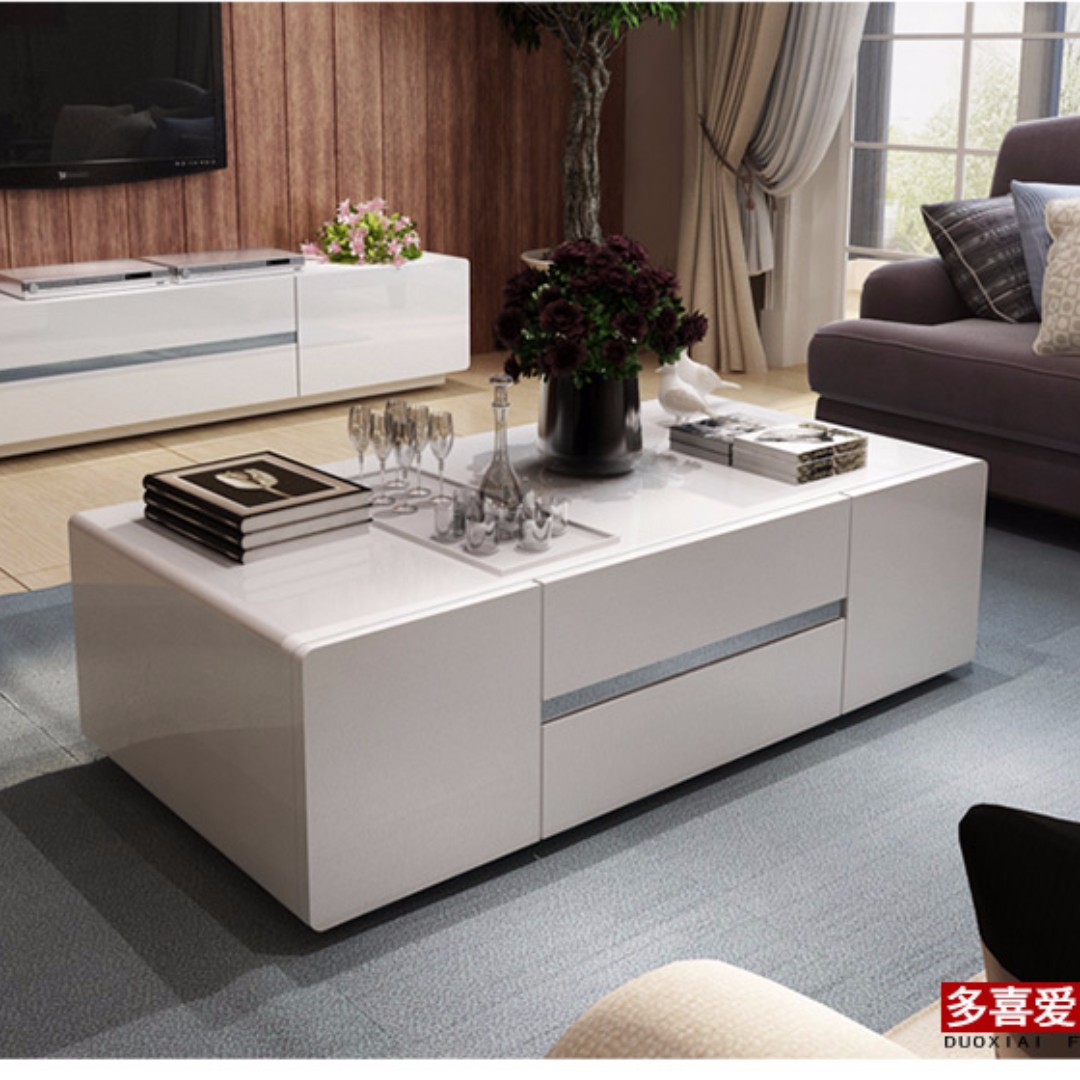 Coffee Table With Drawers Small Tea Table Furniture Tables