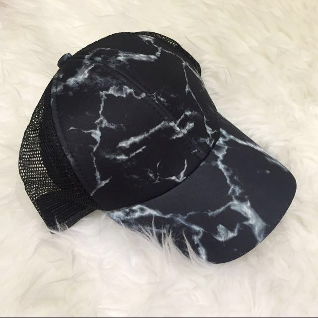 Cotton On Marble Print Snap Back Cap