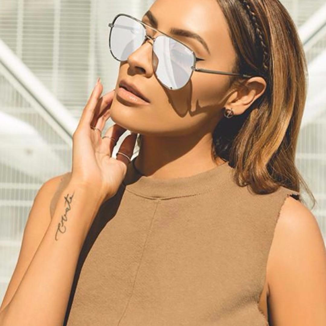 Desi x Quay High Key Sunglasses Silver