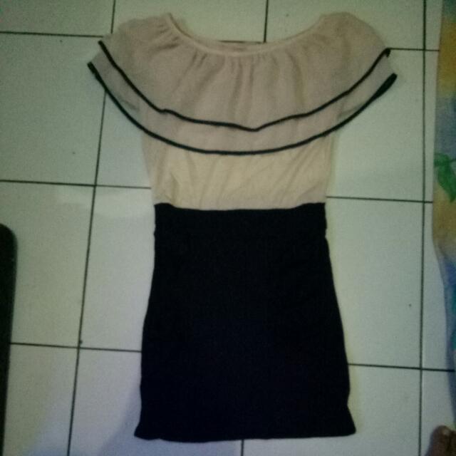 Dress Size S ,kombinasi Biru Dongker, Bhn Kaos Melar(masih Bagus Dah Gak Muat)