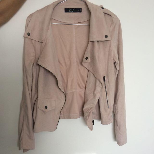 Dusty pink suede jacket