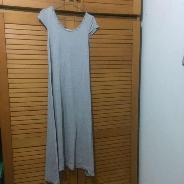 Eclipse Dress Kaos - Abu-abu