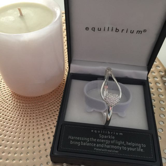 Equilibrium Heart Sparkle Bangle