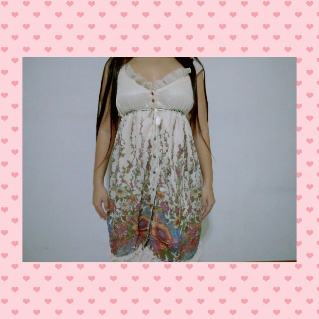 Floral-vined dress tag: liz lisa lolita japanese dress