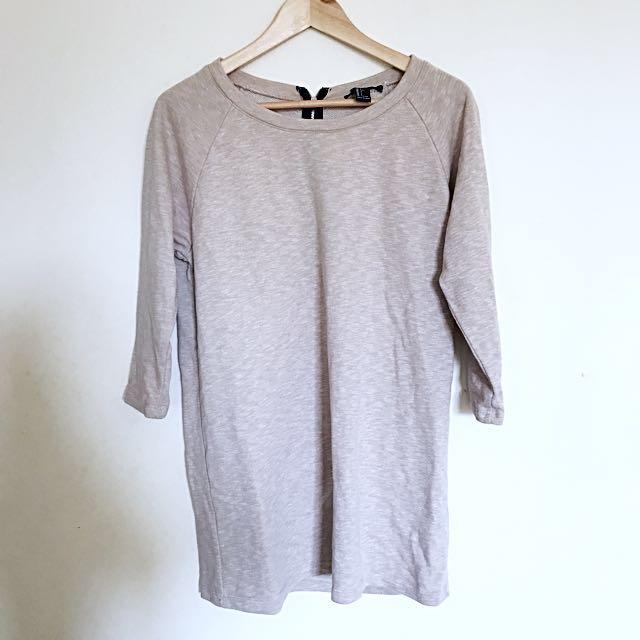 [FOREVER 21] Beige long sleeves top