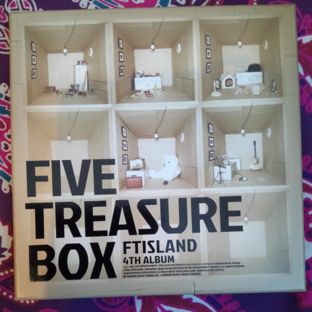 FT Island 4th Album Five Treasure Box
