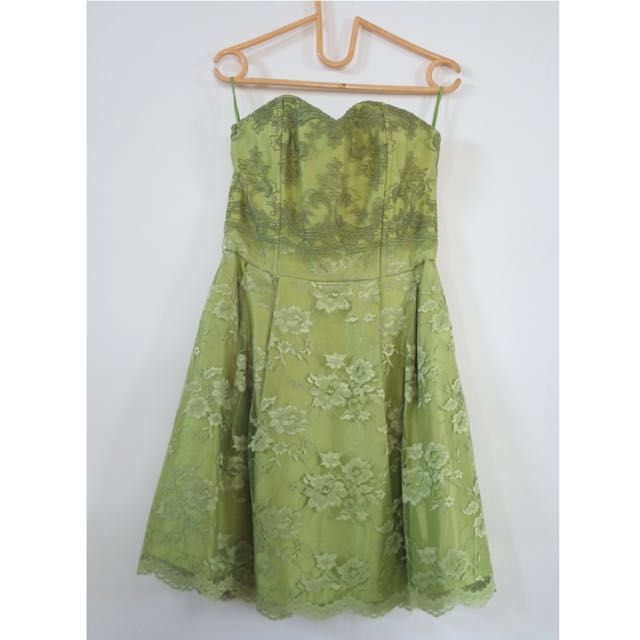 Green Laces Dress