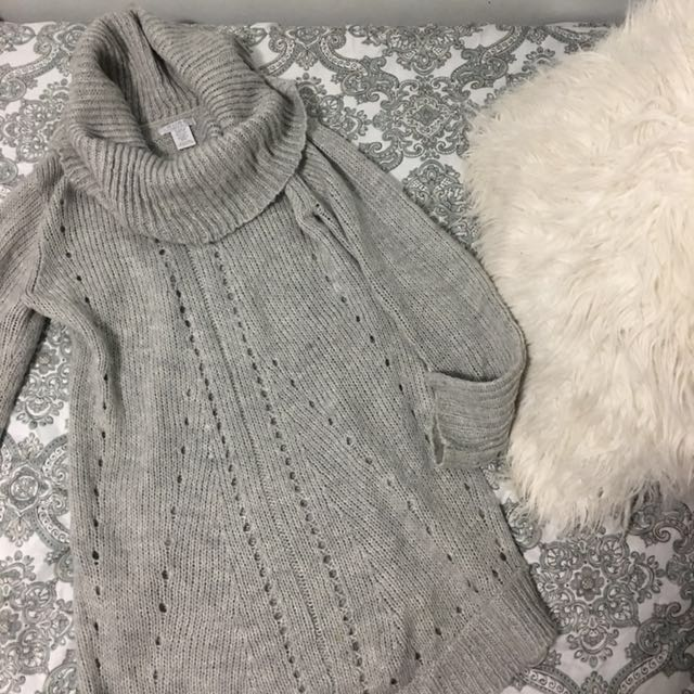 Grey alfred sung turtle neck sweater