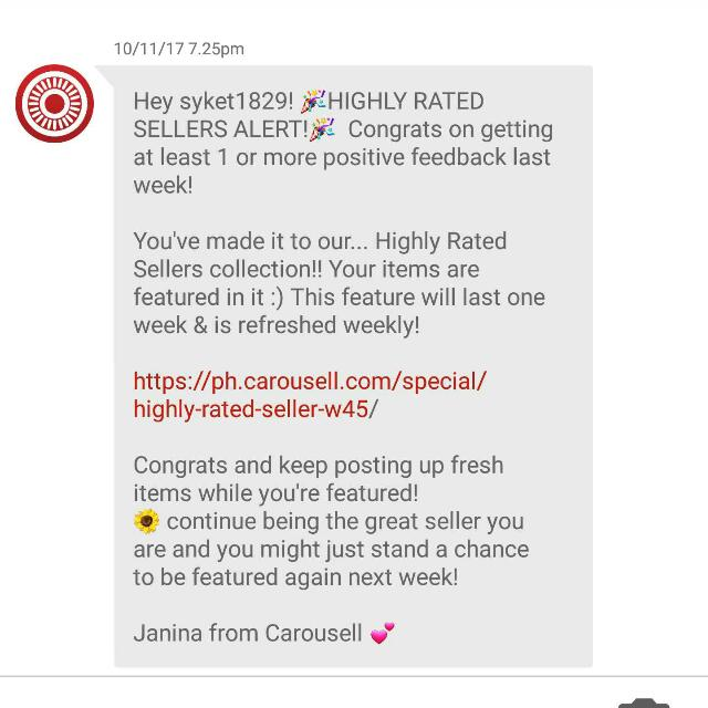 HIGHLY RATED SELLER! Thank you so much po😘😍