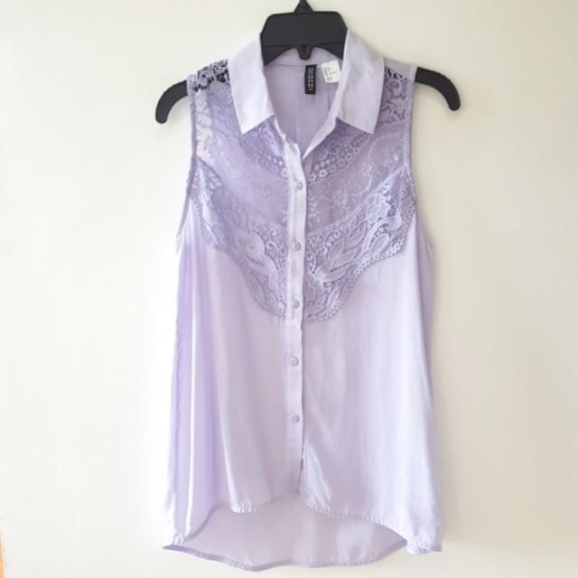 H&M Lilac Sleeveless Blouse
