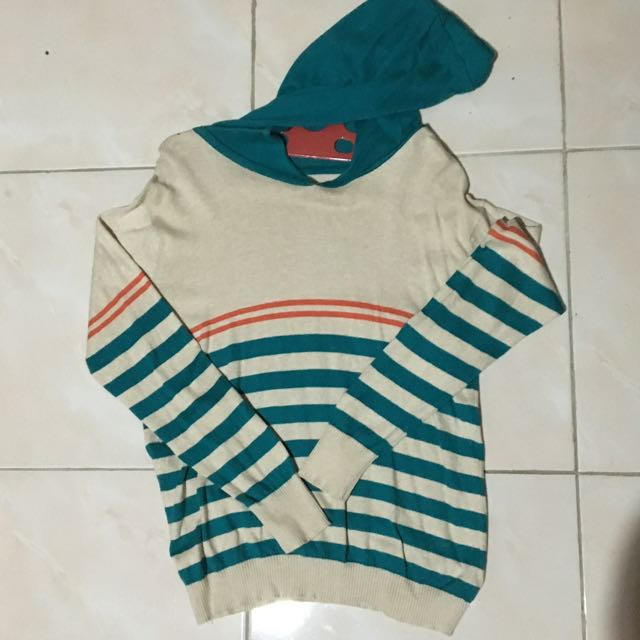 Jaket Hoodie Cardigan Stripe