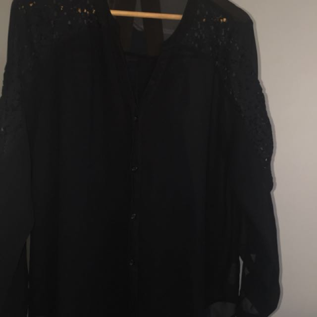 Jeanswest Black see through top