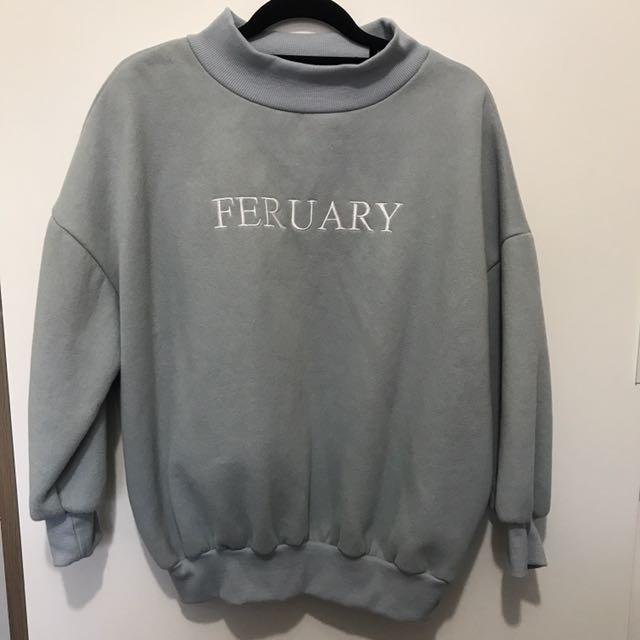 Korean style blue sweater