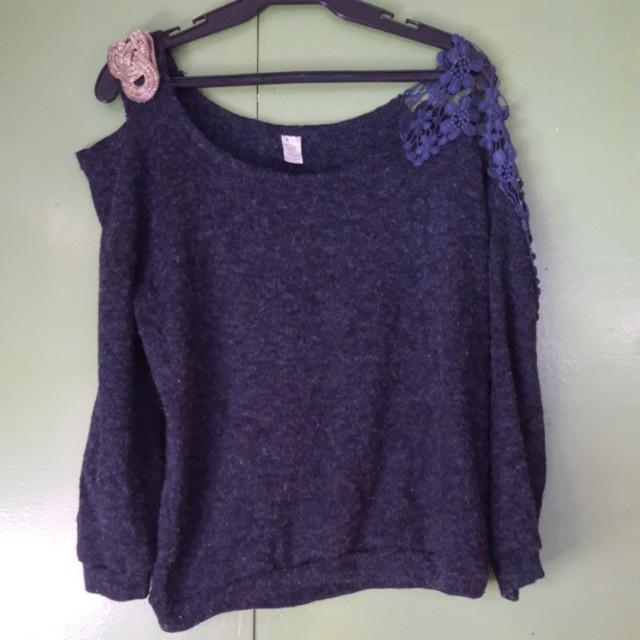 Korean stylish 3/4 sweatshirt