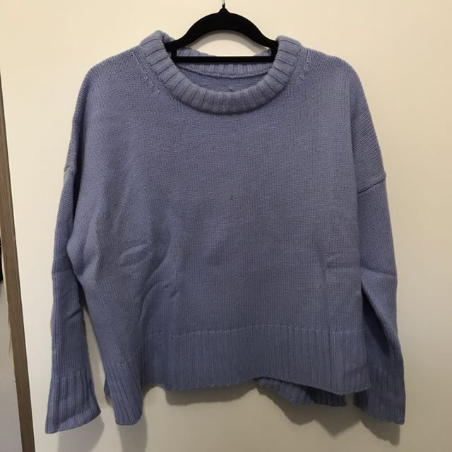 light purple/blue? knitted sweater