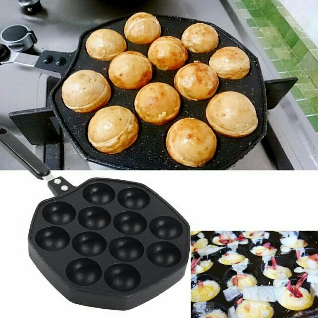 Takoyaki Pan 12 Cavities Maker Octopus Small Baking Kitchen Liances On Carou