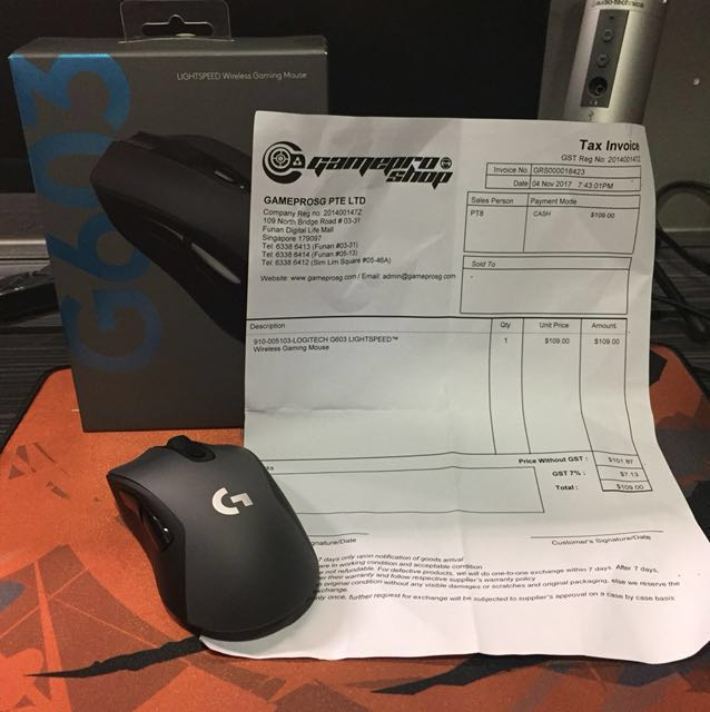 Logitech G603 Lightspeed Wireless Gaming Mouse, Electronics
