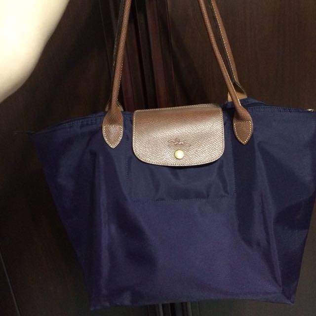 Longchamp 肩背包 紫 長柄
