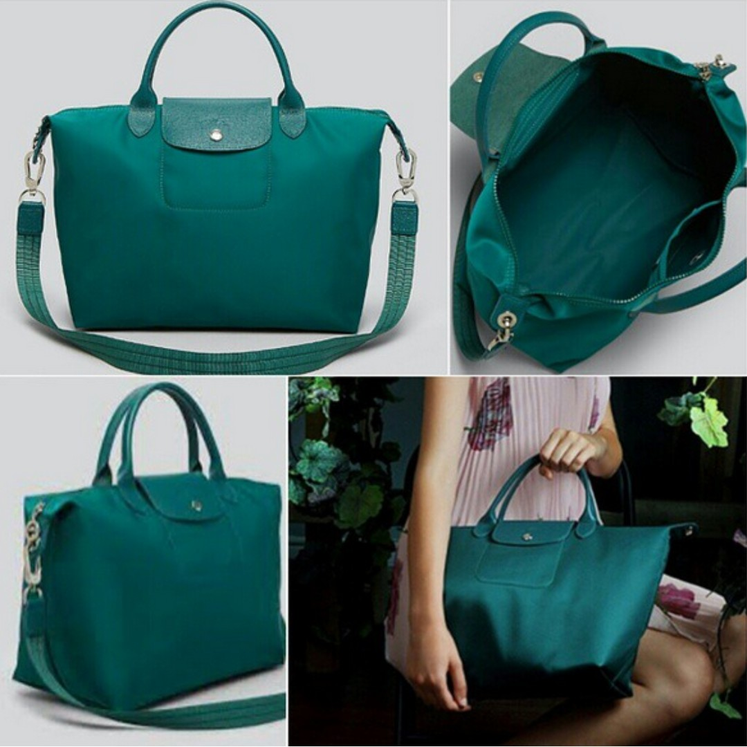 6e68e67b7ad0 Longchamp Le Pliage Neo Medium Nylon Tote Bag (Emerald Green ...