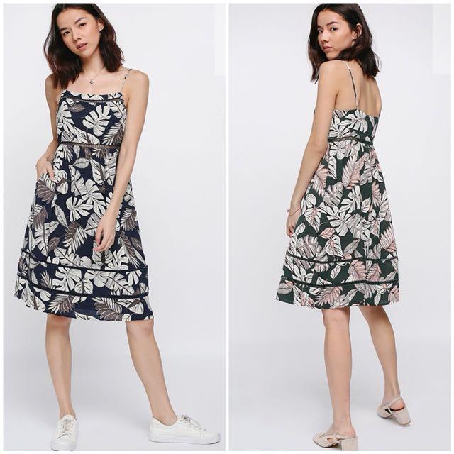 b35a08256301 Love Bonito Emberly Eyelet Printed Dress in Navy (XL), Women's ...