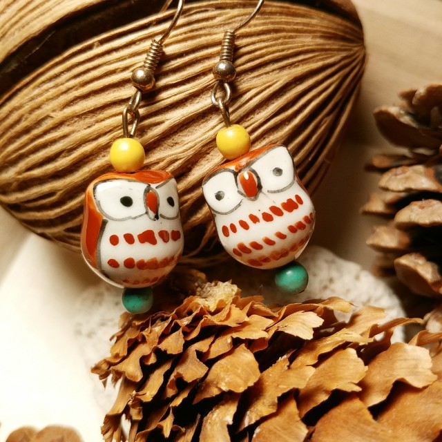 Love owls dangle earrings