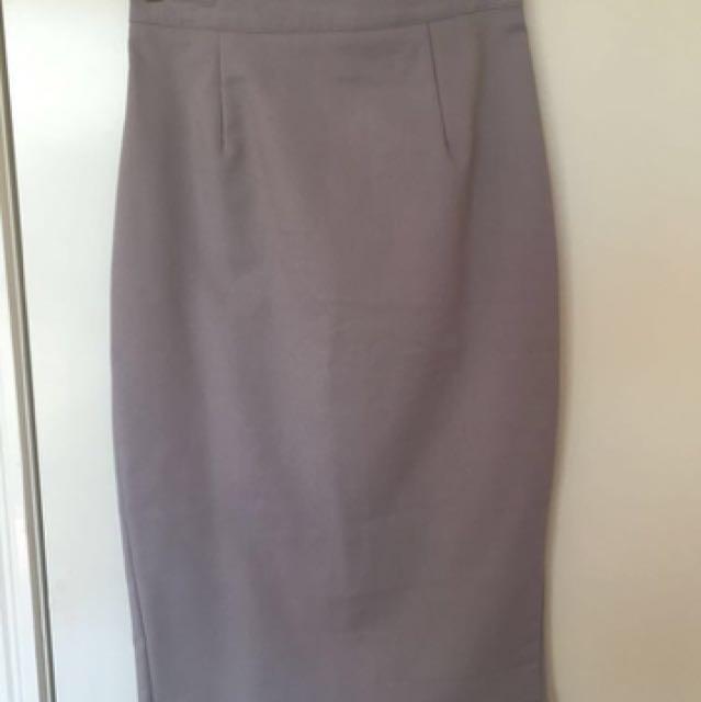 Luvalot Grey Pencil Skirt 6