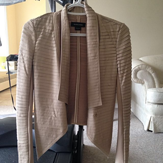 Luxurious Marciano Pale Pink Leather Jacket