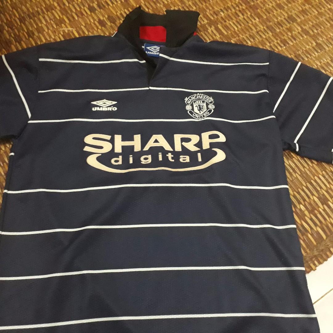huge discount d7096 81ff5 MANCHESTER UNITED 1999 UMBRO ORIGINAL FOOTBALL JERSEY SHIRT SHARP DIGITAL