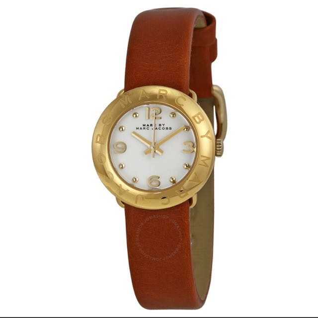 72a76391fc00d MARC BY MARC JACOBS Mini Amy Silver Dial Brown Leather Ladies Watch ...