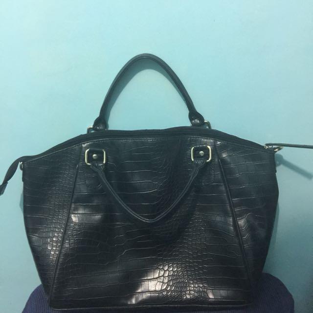 Marikina Made Black Alligator Skin Hand Bag