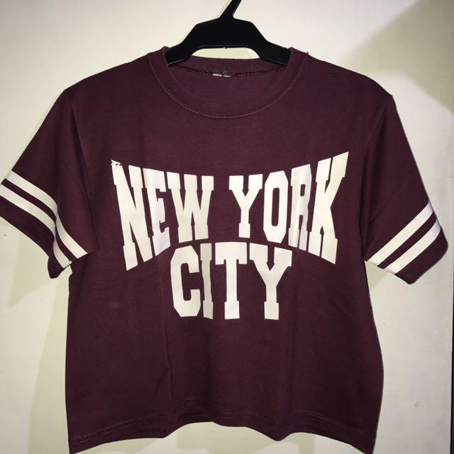 Maroon New York Top