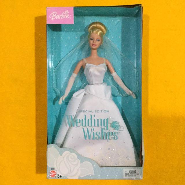 🆕Mattel Wedding Wishes Barbie Doll 2003