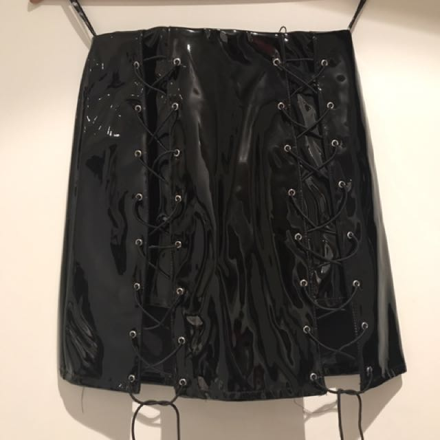 Mini Lace Up Skirt