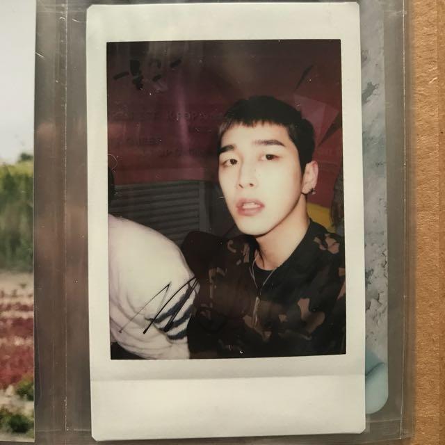 Moos signed polaroid