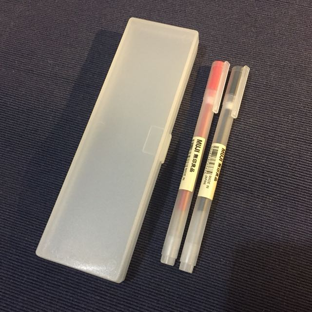Muji pen and case bundle