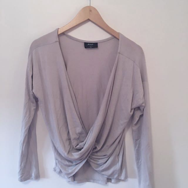 Nasty Gal grey long sleeve shirt