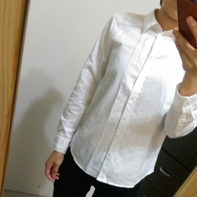 [上班族二手拍賣]NET白色面試百搭襯衫