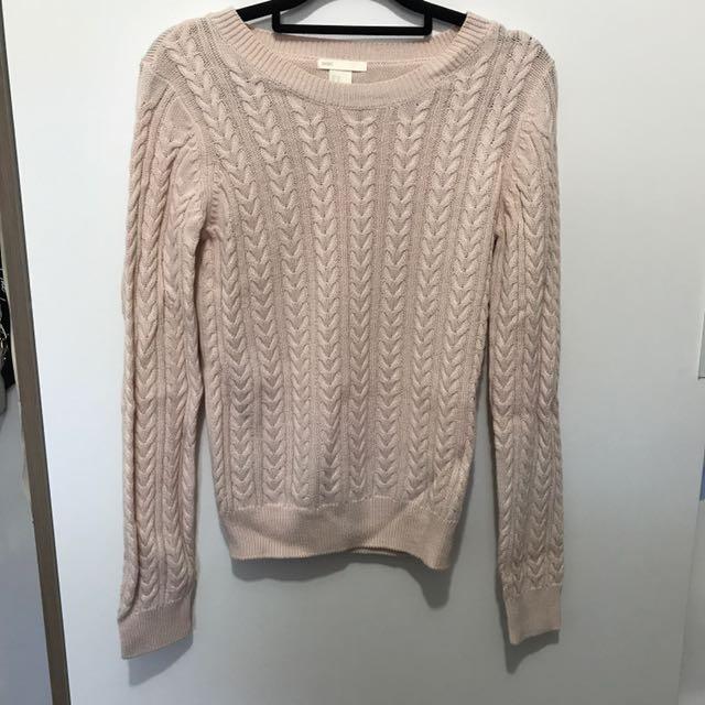Nude H&M knitted sweatshirt