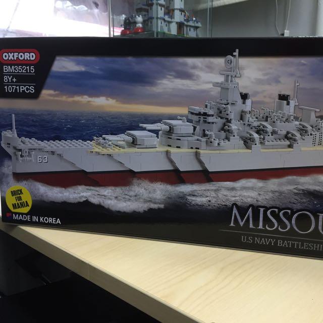 Oxford Missouri US Navy Battle Ship BB-63 Brick For Mania 1071pcs BM35215
