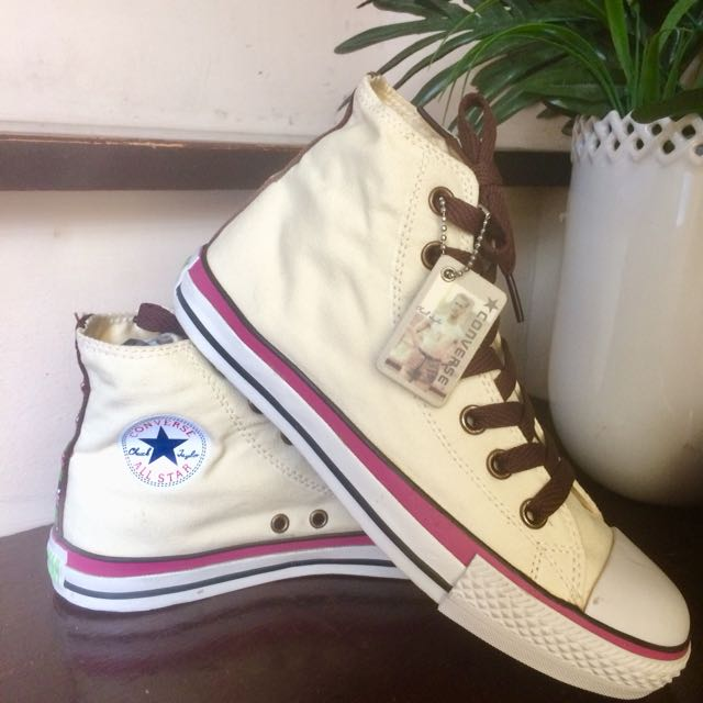 19cdc9d14a47 Pastel Yellow Converse. High cut. Size  US 5 1 2 Fits 7-8